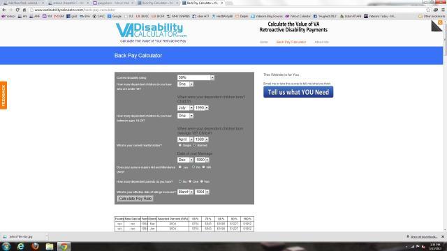 Disability calculator