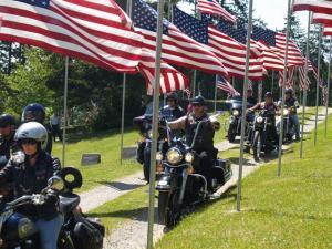 Motor cycles around Isle of Honor