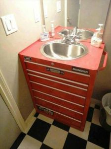 From the Kennedy roll away catalogue this season- 7 drawer vanity w/ SSS sink and 3 month supply of Lava hand soap