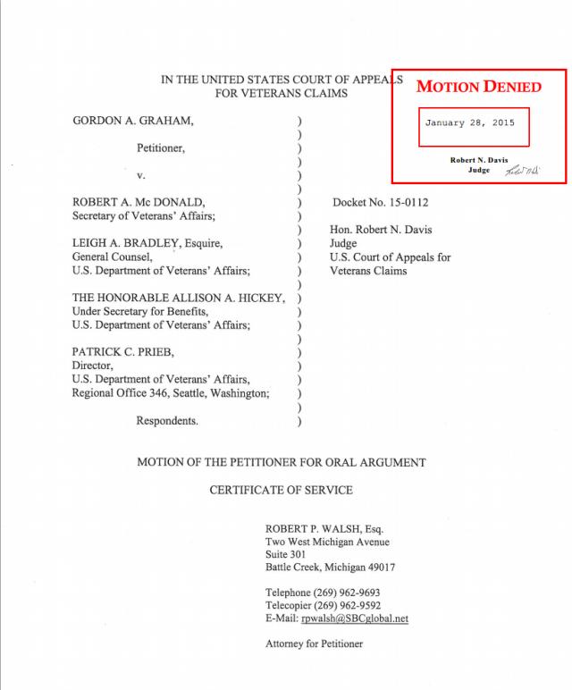 Oral Roberts denial