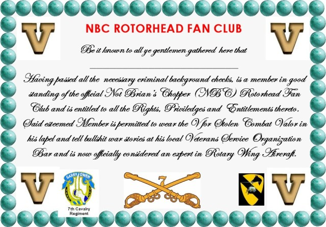 NBC Rotorhead Fan club