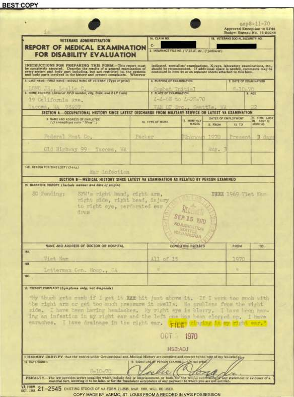 LZ CORK—-BUTCH'S INFERRED CLAIM | Asknod Veterans Claims Help