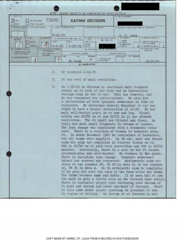 Long Rating sheet 1970 pg 1