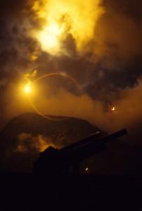 Night Flares over Cork & Radar Hill