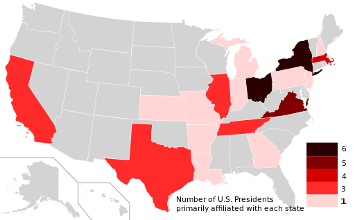 US_Presidents_by_state_of_primary_affiliation