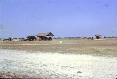 Chiang Mai Jan-Feb 1963 - From left > Duty truck - Maintenance Truck - Generator Shed - Squat Latrine - 3/4 - Operations Shed